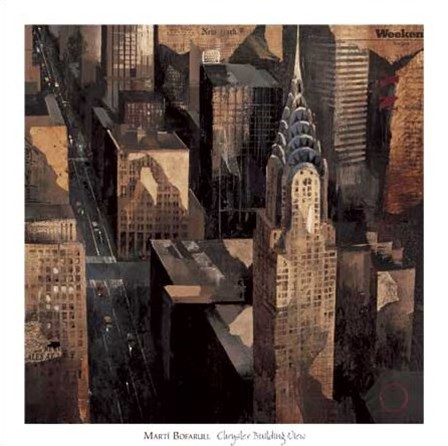 Chrysler Building View by Marti Bofarull art print