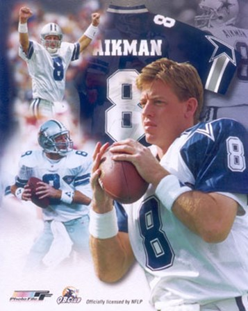 Troy Aikman Legends Composite art print