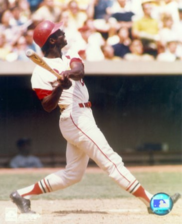 Lou Brock - Batting art print