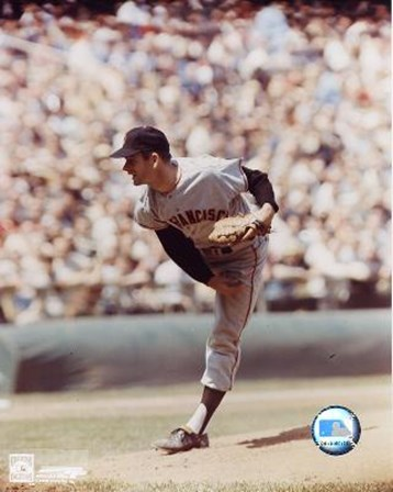 Gaylord Perry - Giants - Pitching art print