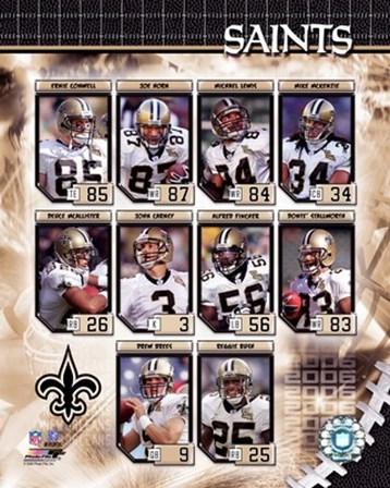 2006 - Saints Team Composite art print