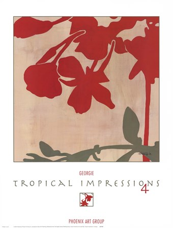 Tropical Impressions 4 by Georgie art print