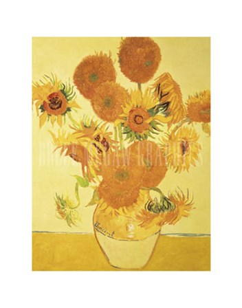 Sunflowers on Gold, 1888 by Vincent Van Gogh art print
