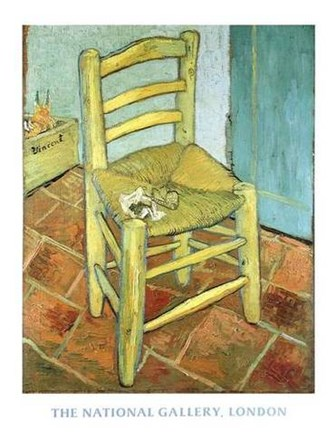 Van Gogh's Chair by Vincent Van Gogh art print