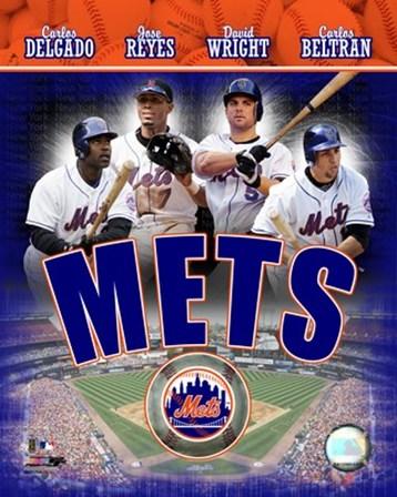 2007 - Mets Big 4 Hitters art print
