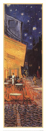 The Cafe Terrace on the Place du Forum, Arles, at Night, c.1888 (detail) by Vincent Van Gogh art print