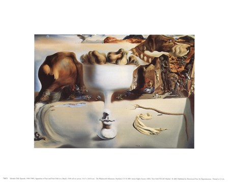 Apparition of Face and Fruit Dish on a Beach, c.1938 by Salvador Dali art print