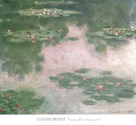 Nympheas, Water Landscape, 1907 by Claude Monet art print