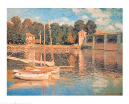 Il Pont d'Argenteuil by Claude Monet art print
