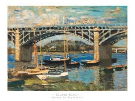 Bridge at Argenteuil (bridge center) by Claude Monet art print