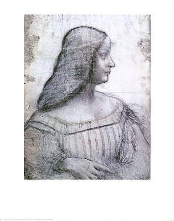 Portrait of Isabella d'Este by Leonardo Da Vinci art print