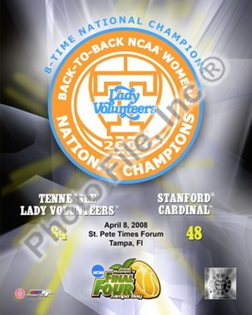 Lady Volunteers, Tennessee - 2008 NCAA Final Four Women's Logo Photo art print