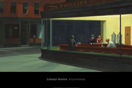 Nighthawks, 1942 by Edward Hopper art print