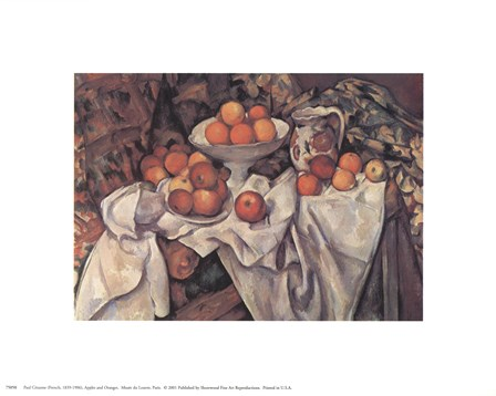 Apples and Oranges, c.1895 by Paul Cezanne art print