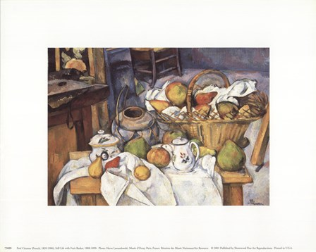 Still Life with Fruit Basket by Paul Cezanne art print