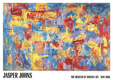 Map by Jasper Johns art print
