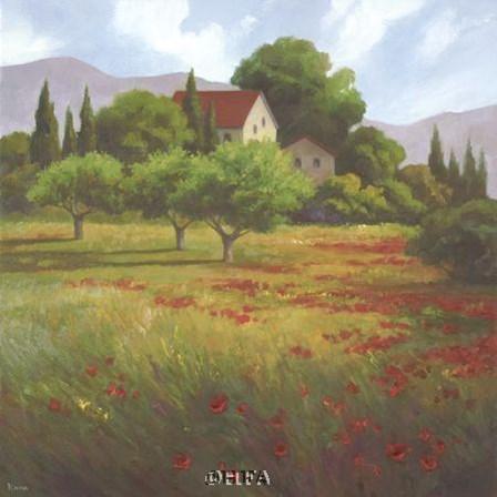Olives & Poppies by Vivien Rhyan art print