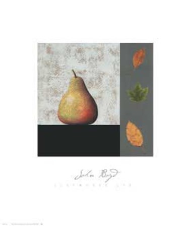 Pear and Leaves by John Boyd art print