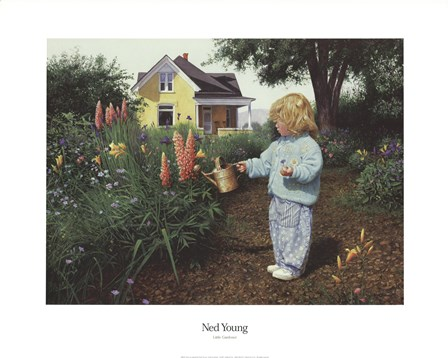 Little Gardener by Ned Young art print