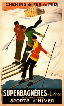 Superbagneres-Luchon, Sports d'Hiver by Leonetto Cappiello art print