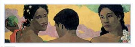 Three Tahitians - Detail by Paul Gauguin art print