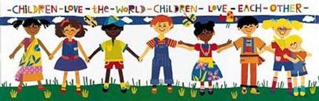 Children Love the World by Cheryl Piperberg art print