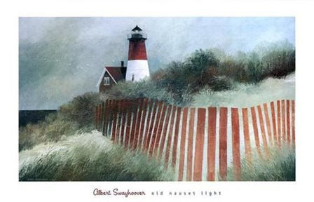 Old Nauset Light by Albert Swayhoover art print