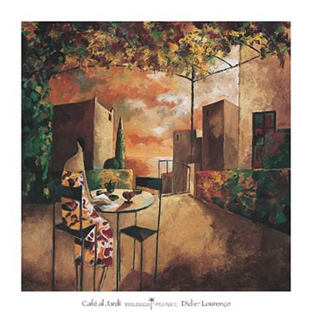 Cafe al Jardi by Didier Lourenco art print