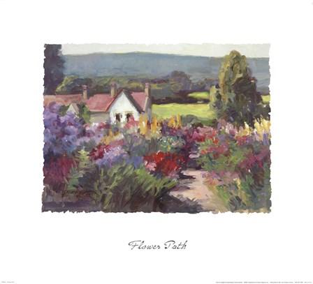 Flower Path by Dawna Barton art print
