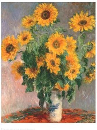 Sunflowers by Claude Monet art print