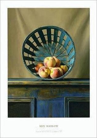 White Peaches by Ken Marlow art print