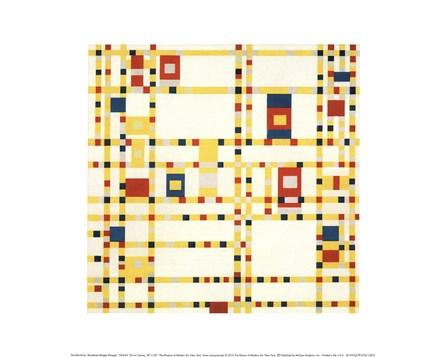 Broadway Boogie Woogie by Piet Mondrian art print