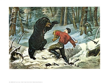 Life of a Hunter by Currier and Ives art print