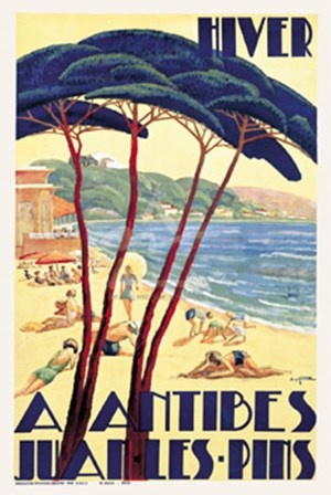 Antibes/Hiver, ca. 1930 by De Guinhald art print