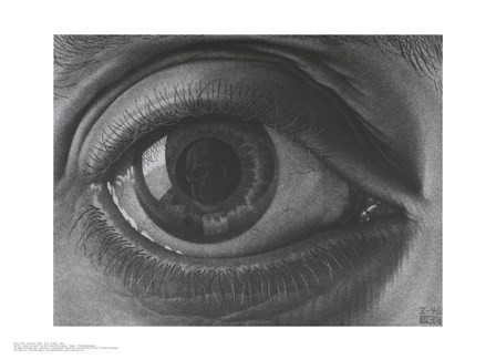 Eye, c.1946 by M.C. Escher art print