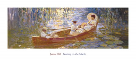 Boating on the Marsh by James Hill art print
