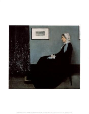 Portrait of the Artist's Mother by James Abbott McNeill Whistler art print