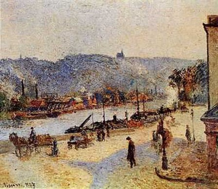 Quays At Rouen by Camille Pissarro art print
