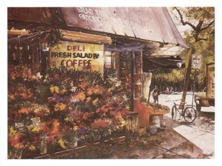 Greenwich Village Flowers by Angelo Gallo art print