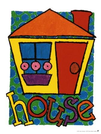 House by Karen Gutowsky art print