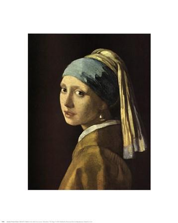Head Of A Girl by Johannes Vermeer art print