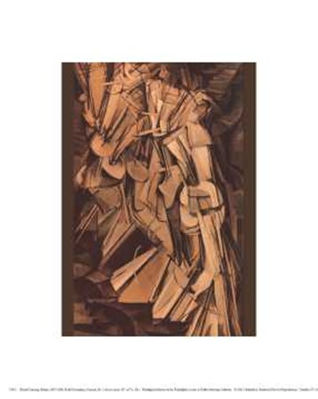Nude Descending a Staircase #2 by Marcel Duchamp art print