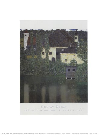 Unterach Manor On The Attersee Lake, Aus by Gustav Klimt art print