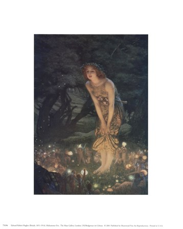 Midsummer Eve, c.1908 by Edward Robert Hughes art print