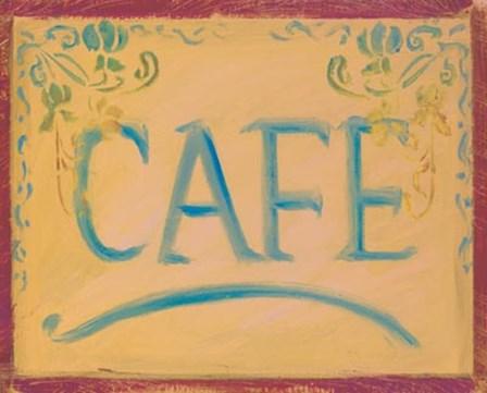 Cafe by Shari White art print