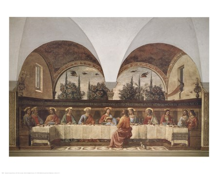 Last Supper by Domenico Ghirlandaio art print