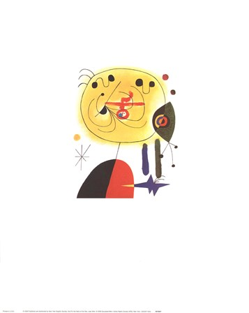 and Fix the Hairs of the Star by Joan Miro art print
