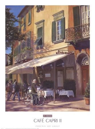 Cafe Capri II by P. Moss art print