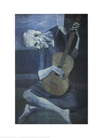 Old Guitarist by Pablo Picasso art print