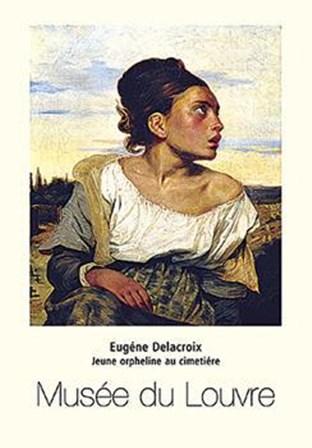 Orphan In Cemetery by Eugene Delacroix art print